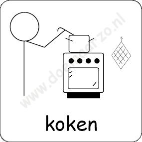 Koken pictomagneet voor 5x5 cm dagritme systeem - Koken afbeelding ...