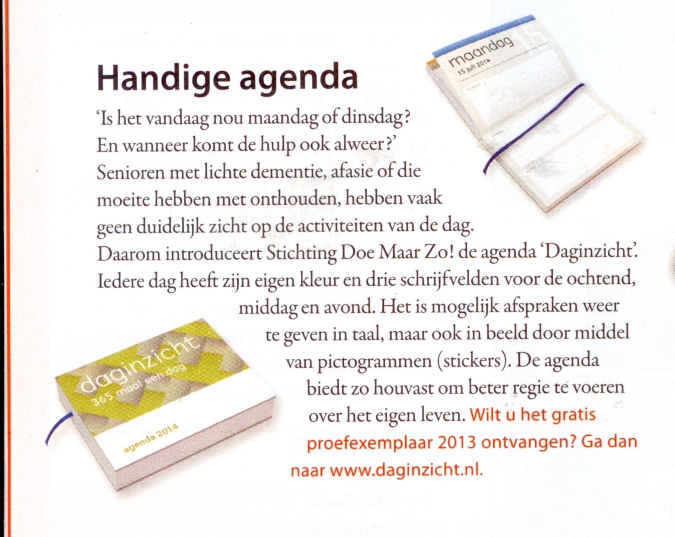 artikel ONS: magazine voor senioren door KBO-Brabant