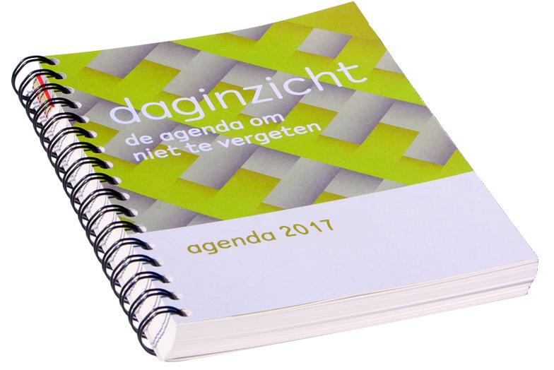 daginzicht agenda 2017 met wire-o binding