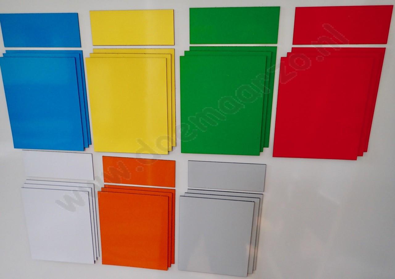 gekleurde vinyl vellen