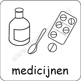 medicijnen pictomagneet voor 3x3cm dagritme systeem