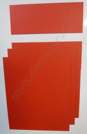 Kleurensysteem zelf samenstellen - rood (5x5 cm)