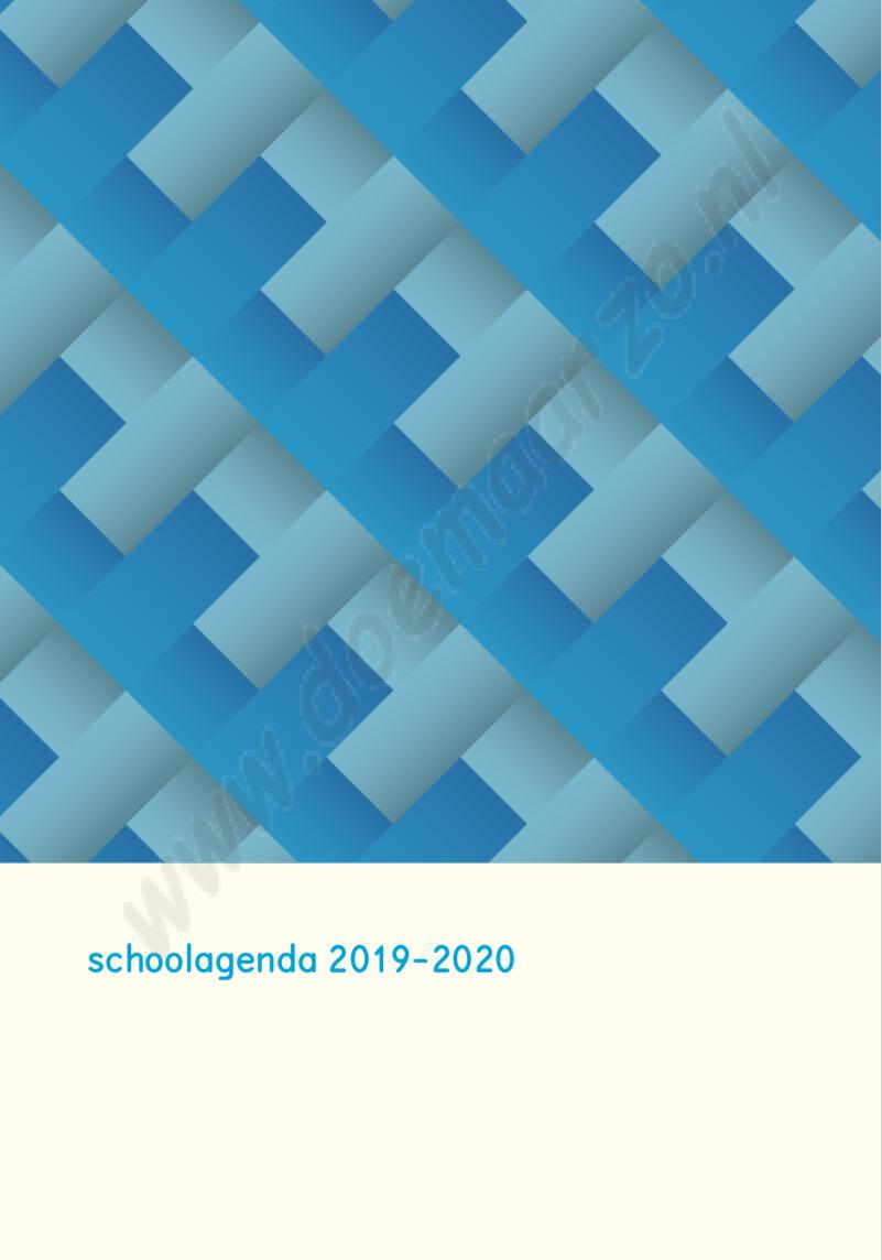 geheel vernieuwde schoolagenda 2019-2020