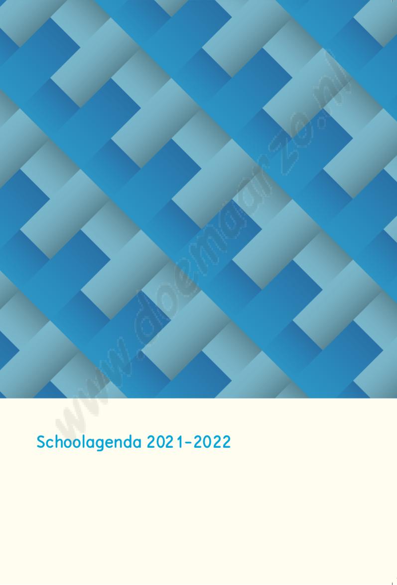 schoolagenda 2021-2022