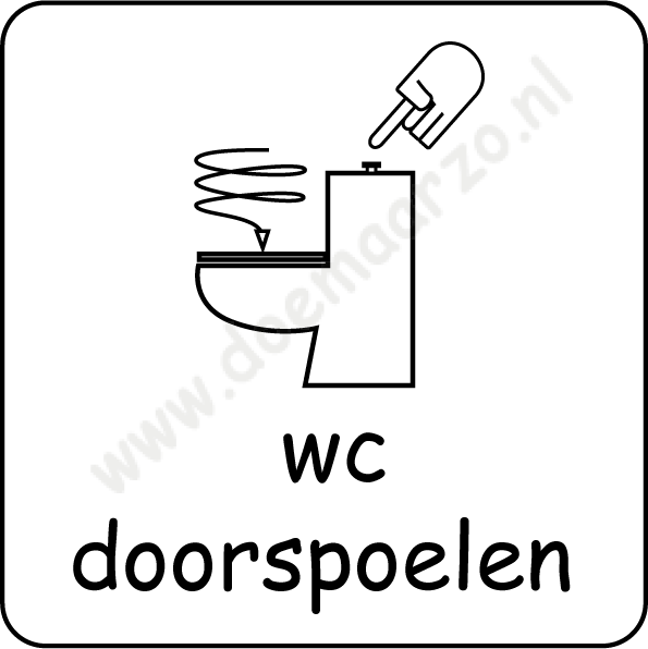 wc doorspoelen