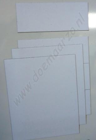 Kleurensysteem zelf samenstellen - wit (5x5 cm)