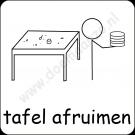 Tafel opruimen