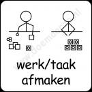 werk/taak afmaken