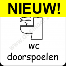 wc doorspoelen