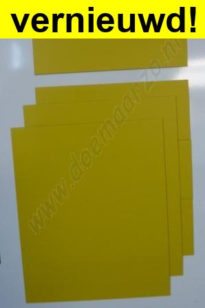 Kleursysteem zelf samen te stellen -geel