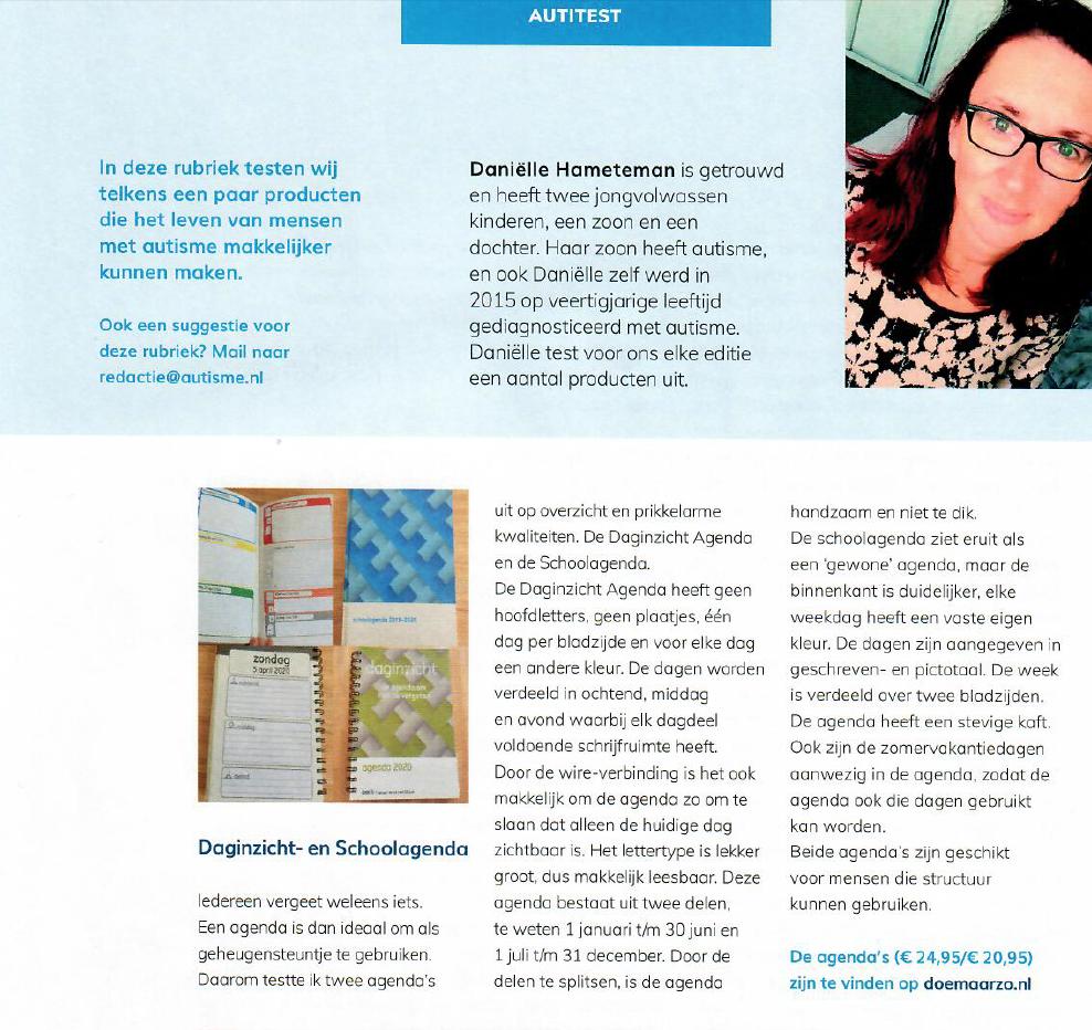 artikel autisme magazine, zomer 2020