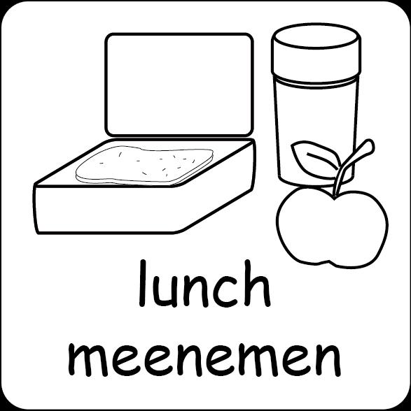 picto lunch meenemen