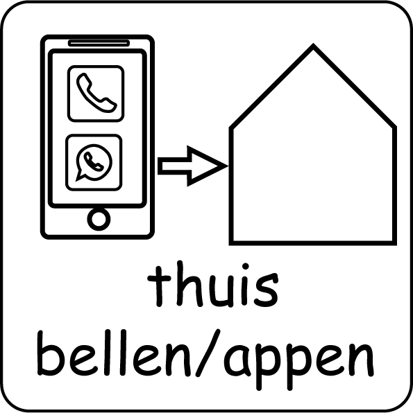 picto thuis bellen/appen